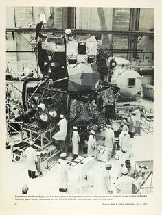 Assembling the Apollo Lunar Lander in the 1960s.