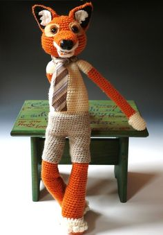 Foxy the fantastic fox  M A D E  T O  O R D E R  by SillyHilli, $120.00