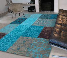 Vintage vloerkleed Turquoise, diverse afmetingen 280 x 360 cm - Vloerkleden - bestel bij Basiclabel.nl