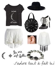 """""""La lune"""" by ginaisanerd ❤ liked on Polyvore featuring Chicwish, Yang Li, Workhorse, Rare London, Yves Saint Laurent and Vanilla Ink"""