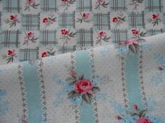 GreenGate Cotton Fabric Betty Dark Mint or Holly Dark Mint by the Metre | eBay