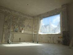 Stucwerk woonkamer renovatie