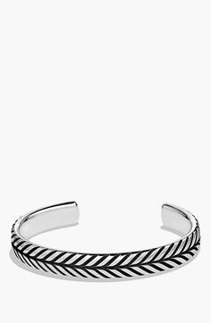 David Yurman 'Modern Chevron' Cuff Bracelet available at #Nordstrom