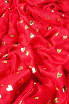Red and Golden Heart Scarves! Because Valentines Day is JUST AROUND THE CORNER - and we LOVE IT!