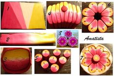 lovely flower cane tutorial from Amatista ~ polymer clay tutorial
