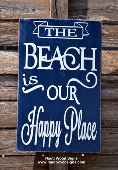 beach decor beach is my our happy place beach wedding gift sign chalkboard sign beach quote nautical theme coastal seaside decor vintage #vintage #beachsign #happyplace #beach #signs #beachlife #decor