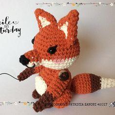Cute Fox Amigurumi 🦊🍄❤️