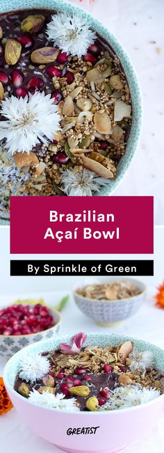 1. Brazilian Açaí Bowl #healthy #Brazilian #recipes http://greatist.com/eat/brazilian-recipes-that-are-surefire-winners