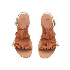H&M Sandalen mit Fransen 9,99 ($15) ❤ liked on Polyvore featuring shoes, sandals, h&m shoes and h&m sandals