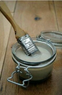 Flour,sugar,water & white vinegar = diy mod podge