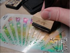 Loving this stencil by Tim Holtz and Stampers Anonymous - this tag tutorial show lots of different uses for a range of stencils ~ http://timholtz.com/12-tags-of-2013-september/