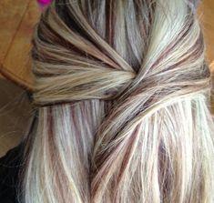 Blonde and auburn