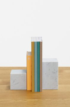 STOP marble bookends by e15
