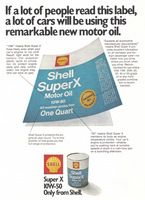 Shell Super X Motor Oil 1972 Ad Picture