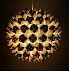 DIY Faceted Sphere Pendant Light