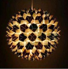 DIY Faceted Sphere Pendant Light