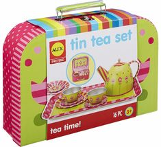 ALEX Toys Tin Tea Set Recommended for Children 3 Years of Age and Older for sale online Cheap Toys For Kids, Best Kids Toys, Outdoor Tea Parties, Toddler Boy Toys, Alex Toys, Dancehall Reggae, Time Kids, Preschool Games, Activities