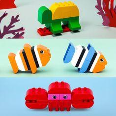Lego Duplo Anleitung: Tiere - Fun with little ones. Lego Activities, Toddler Activities, Legos, Lego Lego, Lego Boot, Lego Duplo Animals, Modele Lego, Construction Lego, Lego Challenge