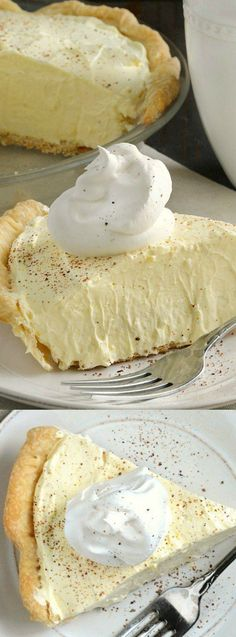 This easy no-bake Eggnog Pie from Meatloaf and Melodrama will win a permanent place on your Thanksgiving and Christmas dessert table. It's light, fluffy, and an absolute family favorite!