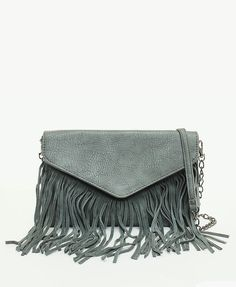 Fringe Metal Chain Shoulder Bag