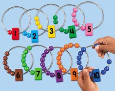 Number Rings for counting and number recognition