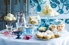 Serve up a high tea menu of star quality, with these elegant sandwiches, cakes and pretty platters.