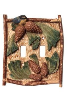 MUST have this for my new master bedroom Vicki Lane Light Switch Decor Cover - Pinecone, double  switch