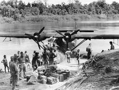 The fascinating photo was taken of a PBY-5 operated by Australian Forces, to supply the Allied war effort in PNG in 1944/45 .