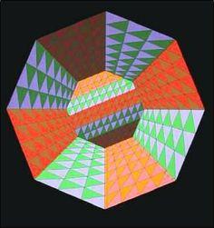 Composition No. 10 - Victor Vasarely.  http://www.artexperiencenyc.com/social_login