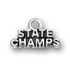 Pewter State Champs Charm