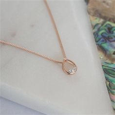 Are you interested in our Rose Gold and Diamond Necklace? With our Gold Teardrop Necklace with Diamonds you need look no further. Rose Gold Pendant, Rose Gold Chain, Gold Necklace, Pendant Necklace, Teardrop Necklace, Selling Jewelry, Diamond Earrings, Women Jewelry, Jewellery