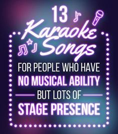 13 Karaoke Songs For People With No Musical Ability Must love air guitar. Karaoke Funny, Best Karaoke Songs, Karaoke Party, Party Songs, Fun Songs, Songs To Sing, Best Songs, Music Songs, Love Songs