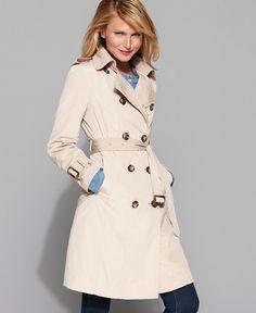 Amazon.com: London Fog Women's Petite Classic Trench Coat ...