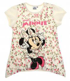 Disney Minnie Chicas Camiseta de manga corta Fuxia