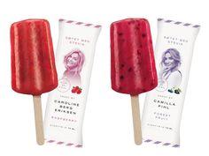 Frost Ice-Cream - Caroline Berg Eriksen & Camilla Pihl on Packaging of the World - Creative Package Design Gallery Raspberry Fruit, Food Branding, Label Design, Package Design, Graphic Design, Icecream Bar, Beverage Packaging, Bottle Design, Packaging Design Inspiration