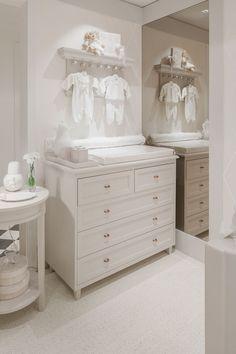 Decoração romântica e toda branca para o quarto do bebê - Constance Zahn