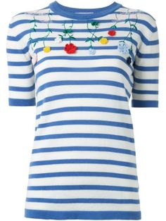 Vivetta floral embroidery knitted T-shirt
