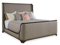 Firenze Canella King Upholstered Shelter Bed
