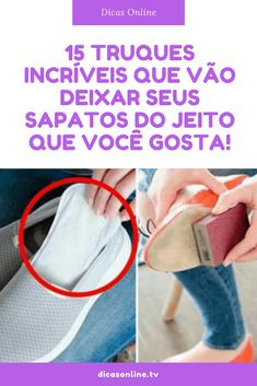 Sapatos dicas Beauty Care, Good To Know, Cleaning Hacks, Good Things, Organization, Tips, How To Make, Shoes, Ikea Hacks