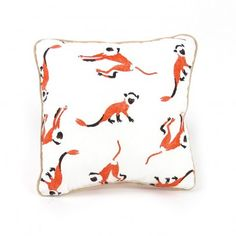 Nobodinoz Cushion - little monkeys `One size Fabrics : Cotton, Polyester * Details : Little monkeys pattern, 100% polyester filling * 19 x 19 cm. * Hand wash only * Made in : Spain http://www.MightGet.com/january-2017-13/nobodinoz-cushion--little-monkeys-one-size.asp
