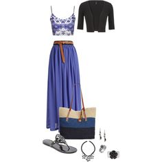 Blue maxi skirt 438 by adgubbe on Polyvore featuring polyvore, fashion, style, Topshop, maurices, Tory Burch, Lucky Brand, Philippe Ferrandis, White House Black Market and Banana Republic