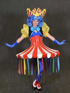 Circus costume idea - would be extra amazing with beanie babies pinned to tent (elephant, lion, monkey, etc.); maybe add a clown nose and popcorn or cotton candy purse and jewelry
