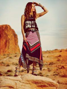 Free People Bedouin Traveler Skirt, �98.00