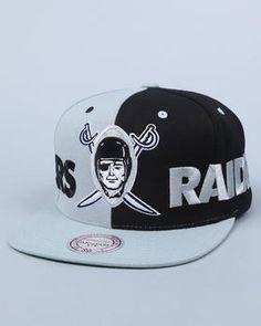 Oakland Raiders Nfl Split Snapback Cap. Get it at DrJays.com