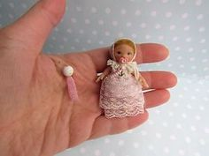 OOAK miniature Baby GIRL doll dollhouse art 12th scaled 1/12 + VICTORIAN Outfit  | eBay