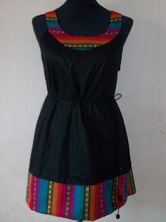 vestido con aguayo ideal para usar con poleritas varios colores y talles