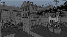 ArtStation - The Order 1886: Black Wall Yards streets - wireframes, Nestor Carpintero