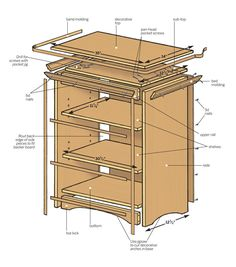 How to build a small bookcase with more than 10 square feet of shelf space