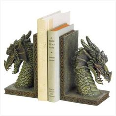 Dragon Bookends (good for Game of Thrones series)