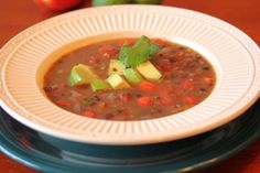 Re-fried Black Bean Soup - SO easy and SO delicious!